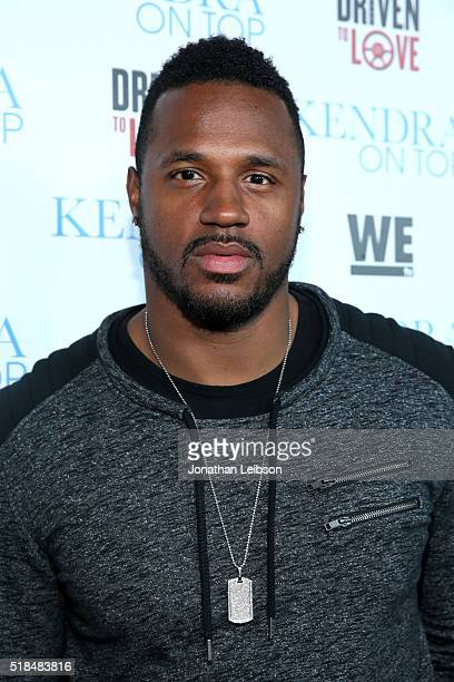 """Professional football player James Anderson attends WE tv's premiere of """"Kendra On Top"""" and """"Driven To Love"""" at Estrella Sunset on March 31, 2016 in..."""