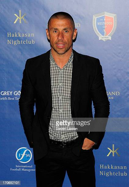 Professional football player Kevin Phillips arrives at Hakkasan Las Vegas Restaurant and Nightclub at the MGM Grand Hotel/Casino for the launch of...