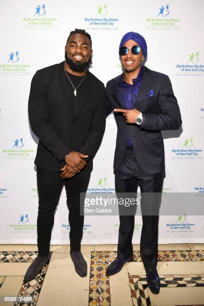 Professional football player Landon Collins and Nick Cannon attend the Big Brothers Big Sisters of NYC annual Casino Jazz Night at Cipriani 42nd...