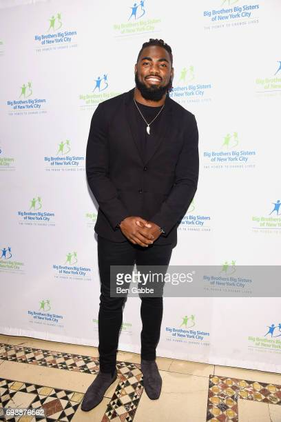 Professional football player Landon Collins attends the Big Brothers Big Sisters of NYC annual Casino Jazz Night at Cipriani 42nd Street on June 20...