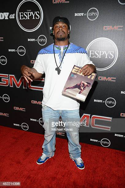 Professional football player Marshawn Lynch attends the Body at ESPYS PreParty at Lure on July 15 2014 in Hollywood California
