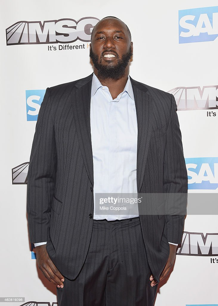 Professional football player Muhammad Wilkerson attends MSG Networks Original Programming Party at Madison Square Garden on February 5, 2015 in New York City.