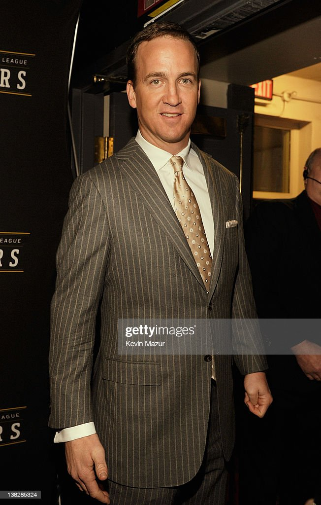 Professional Football Player Peyton Manning attends the 2012 NFL Honors at the Murat Theatre on February 4, 2012 in Indianapolis, Indiana.