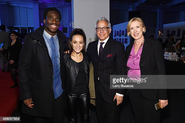 Professional football player Prince Amukamara, Pilar Davis, chef Geoffrey Zakarian, and Executive Director of City Harvest Jilly Stephens attend City...