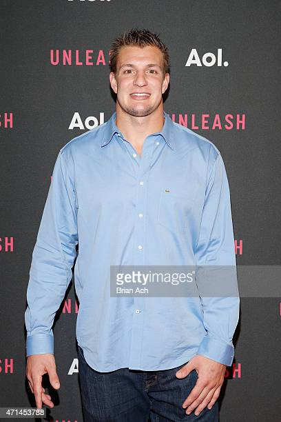 Professional football player Rob Gronkowski attends the AOL 2015 Newfront on April 28 2015 in New York City