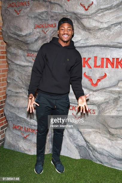 Professional football player Stefon Diggs arrives at the new Jack Link's Legend Lounge on February 3 2018 in Minneapolis Minnesota