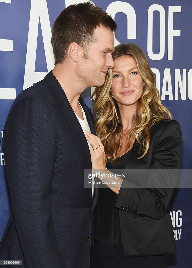 Professional Football player Tom Brady and wife, model Gisele Bundchen attend National Geographic's 'Years Of Living Dangerously' new season world premiere at the American Museum of Natural History on September 21, 2016 in New York City.