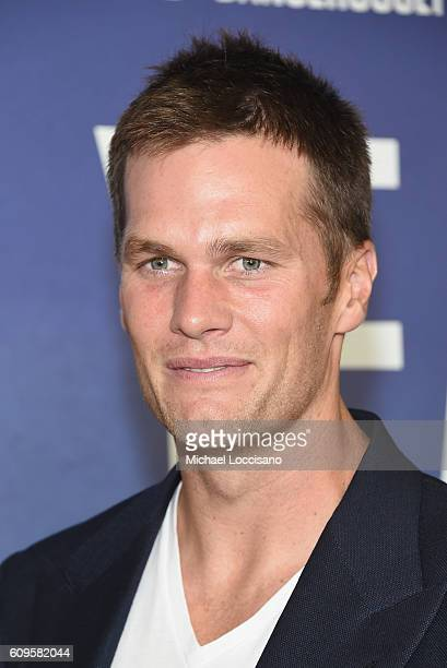 Professional Football player Tom Brady attends National Geographic's 'Years Of Living Dangerously' new season world premiere at the American Museum...