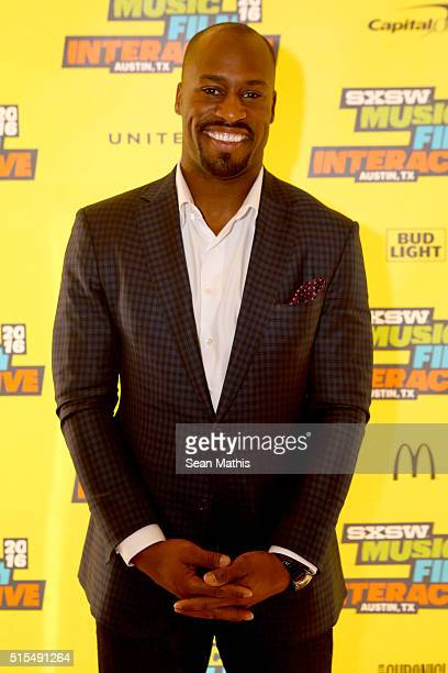 Professional football player Vernon Davis attends 'Pro Athletes Taking Control of Their Brand Destiny' during the 2016 SXSW Music Film Interactive...
