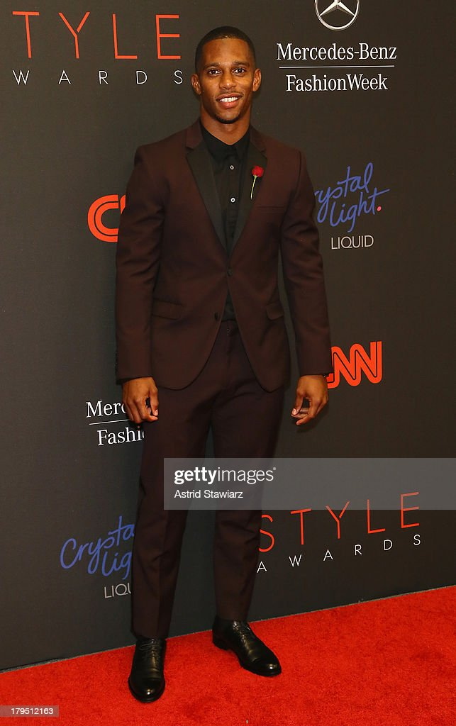 Professional football player Victor Cruz attends the 10th annual Style Awards during Mercedes Benz Fashion Week Spring 2014 at Lincoln Center on September 4, 2013 in New York City.