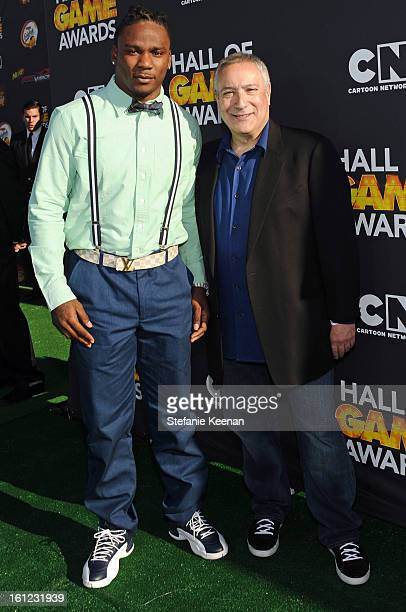 Professional football player/presenter Chris Johnson and Cartoon Network President/COO Stuart Snyder attend the Third Annual Hall of Game Awards...