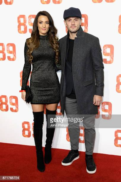 Professional footballer Jack Wilshere and his wife Andriani Michael arriving at the 89 World Premiere held at Odeon Holloway on November 8 2017 in...