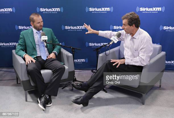 Professional golfer and masters winner Sergio Garcia is interviewed by SiriusXM's Christopher 'Mad Dog' Russo on Mad Dog Unleashed at the SiriusXM...