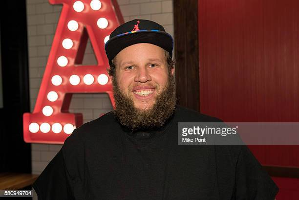Professional golfer Andrew 'Beef' Johnston visits Arby's on July 23 2016 in New York City