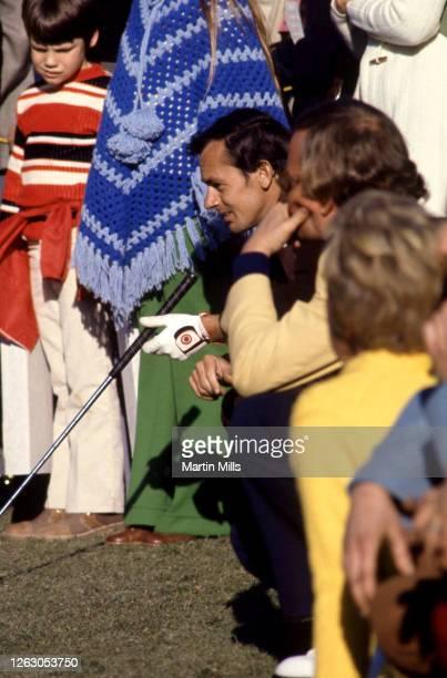 Professional golfer David Graham of Australia contemplates his putt during a golf event circa 1972.