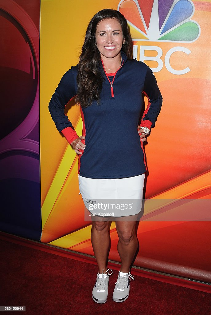 Professional golfer Gerina Piller arrives at the 2016 Summer TCA Tour - NBCUniversal Press Tour Day 1 at The Beverly Hilton Hotel on August 2, 2016 in Beverly Hills, California.