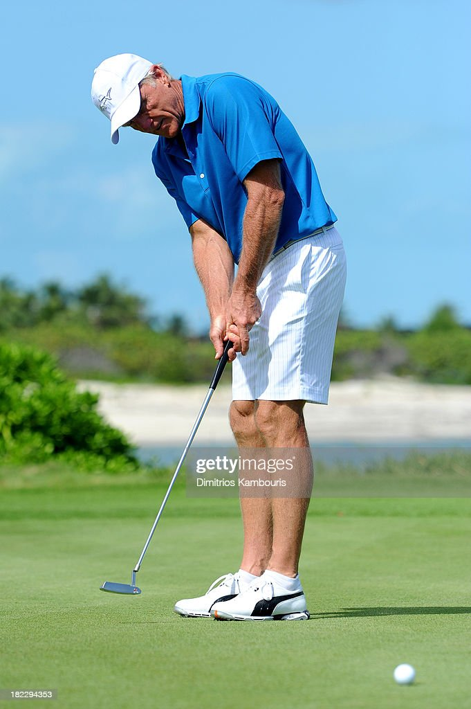 Sandals Emerald Bay Celebrity Getaway and Golf Weekend - Day Three, Golf Clinic with Greg Norman and Golf Tournament : News Photo