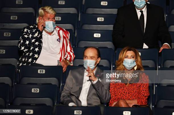 Professional golfer John Daly top left attends the US presidential debate at Belmont University in Nashville Tennessee US on Thursday Oct 22 2020...