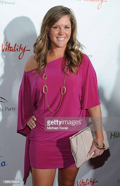 Professional golfer Mallory Blackwelder arrives at the Derby Prelude Party at The London Hotel on January 12 2012 in West Hollywood California