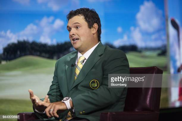 Professional golfer Patrick Reed speaks during a Bloomberg Television interview in New York US on Tuesday April 10 2018 Reed talked about winning the...