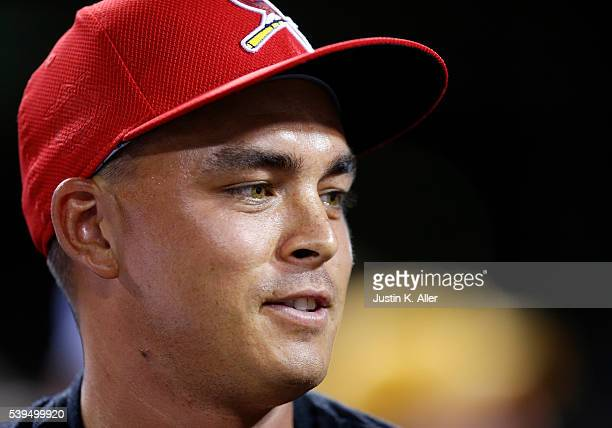 Professional golfer Rickie Fowler attends the game between the Pittsburgh Pirates adnt he St Louis Cardinals at PNC Park on June 11 2015 in...