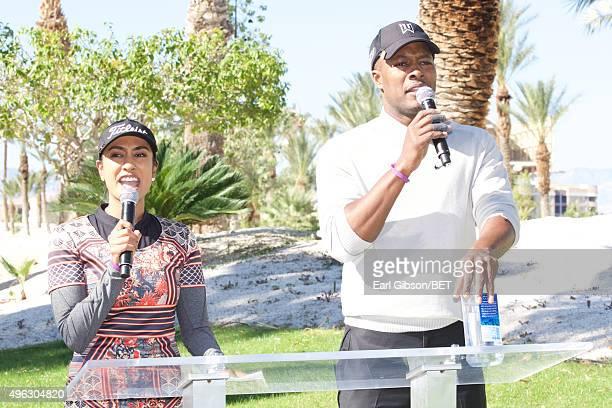 Professional Golfer Seema and Actor Flex Alexander host the Soul Train Weekend Charity Golf Classic on November 7 2015 in Las Vegas Nevada