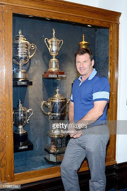 Professional golfer Sir Nick Faldo attends a Gold Day hosted by Glenmorangie and Sir Nick Faldo at Winged Foot Golf Club on June 20, 2013 in...