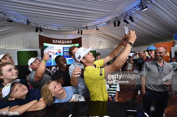 Professional golfer Zach Johnson drops by The Samsung Experience at the PGA Championship 2016 at Baltusrol Golf Club on July 28 2016 in Springfield...