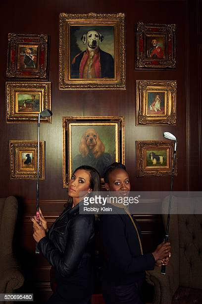 Professional golfers Cheyenne Woods and Sadena Parks are photographed for ESPN The Magazine on January 28 2015 in Ocala Florida