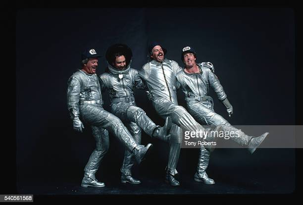 Professional Golfers Dancing in Spacesuit Costumes