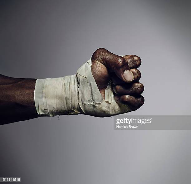 Professional heavyweight boxer Anthony Joshua is photographed for Sport magazine on November 5 2015 in London England