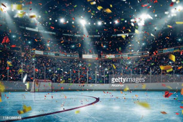 professional hockey arena - hockey puck stock pictures, royalty-free photos & images