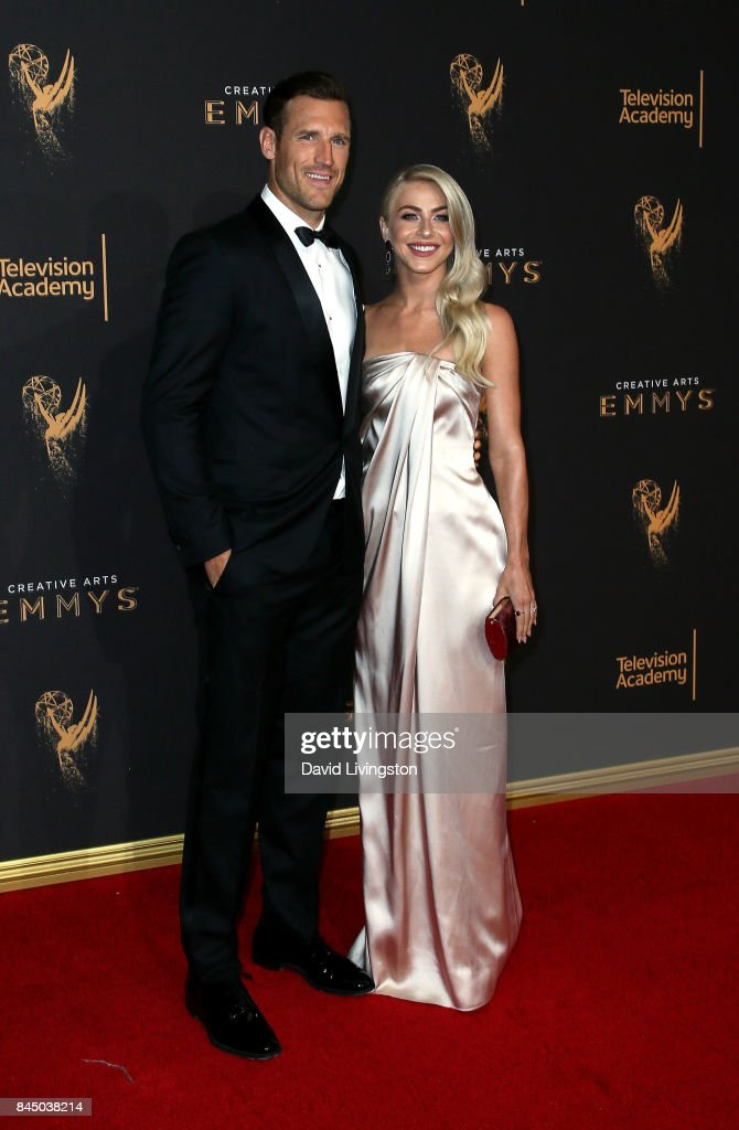 Professional hockey player Brooks Laich (L) and actress Julianne Hough attend the 2017 Creative Arts Emmy Awards at Microsoft Theater on September 9, 2017 in Los Angeles, California.