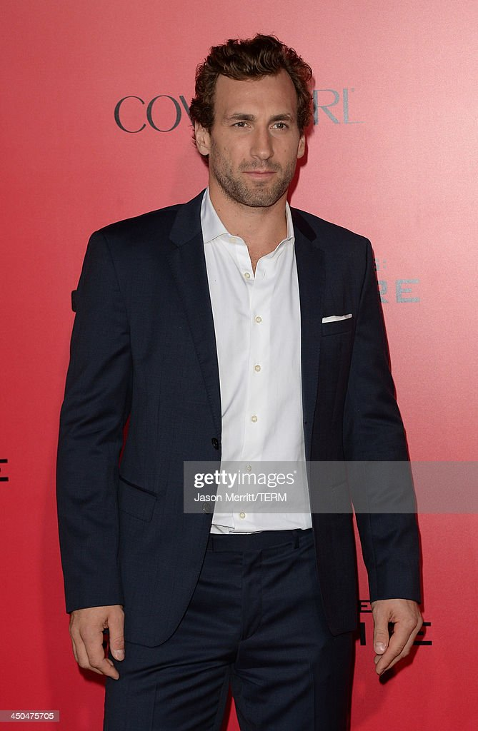 Professional Hockey player Jarret Stoll arrives at the premiere of Lionsgate's 'The Hunger Games: Catching Fire' at Nokia Theatre L.A. Live on November 18, 2013 in Los Angeles, California.