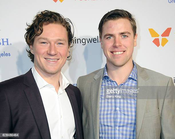 Professional hockey players of LA Kings Tyler Toffoli and Tanner Pearson attend the 4th Annual Wishing Well Winter Gala at Hollywood Palladium on...