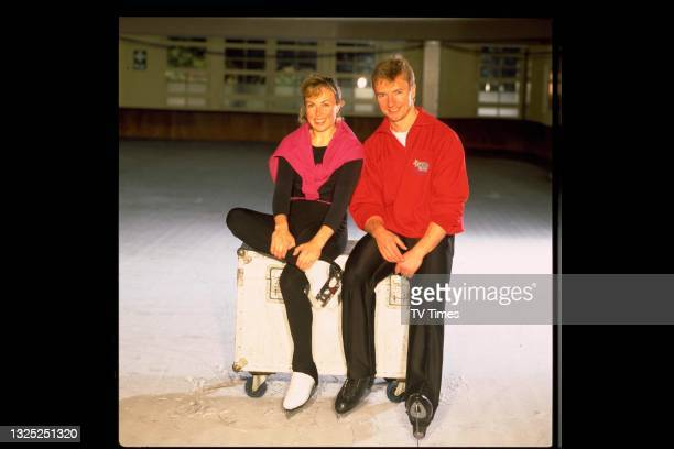 Professional ice dancers and Olympic gold medal winners Jayne Torvill and Christopher Dean, circa 1986.