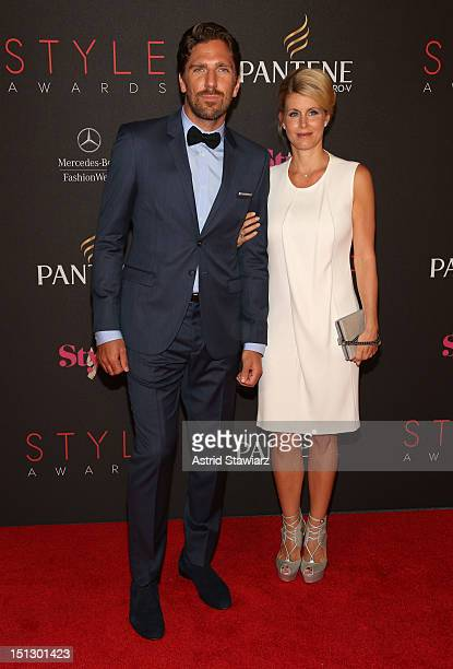 Professional ice hockey player Henrik Lundqvist and Therese Anderson attend the 9th annual Style Awards during MercedesBenz Fashion Week at The Stage...