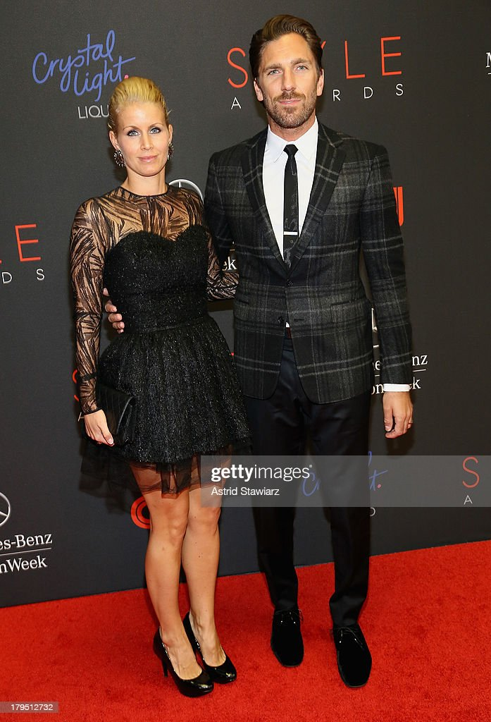 Professional Ice Hockey Player Henrik Lundqvist (R) and Therese Andersson attend the 10th annual Style Awards during Mercedes Benz Fashion Week Spring 2014 at Lincoln Center on September 4, 2013 in New York City.