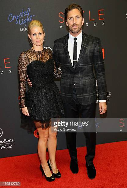 Professional Ice Hockey Player Henrik Lundqvist and Therese Andersson attend the 10th annual Style Awards during Mercedes Benz Fashion Week Spring...