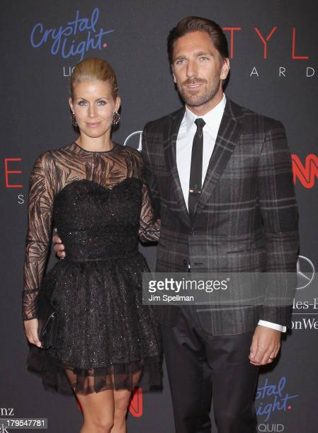 Professional Ice Hockey Player Henrik Lundqvist and Therese Andersson attend the 2013 Style Awards at Lincoln Center on September 4 2013 in New York...
