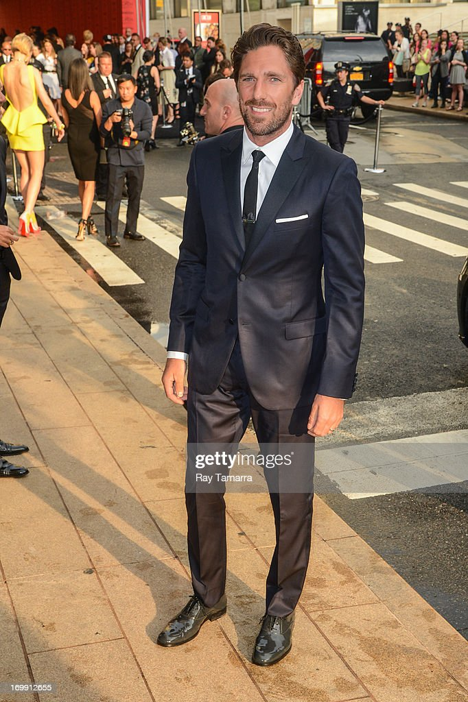 Professional ice hockey player Henrik Lundqvist enters the 2013 CFDA Fashion Awards on June 3, 2013 in New York, United States.