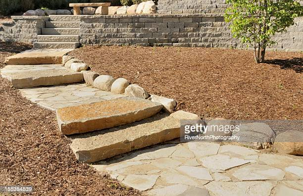 professional landscaping - retaining wall stock pictures, royalty-free photos & images