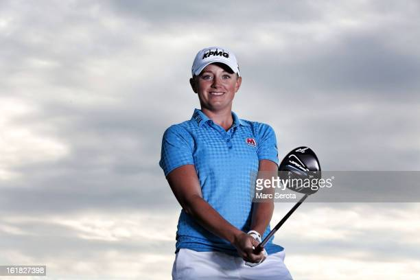 Professional LPGA golfer Stacy Lewis poses during a photo shoot on February 6 2013 in Palm Beach Florida