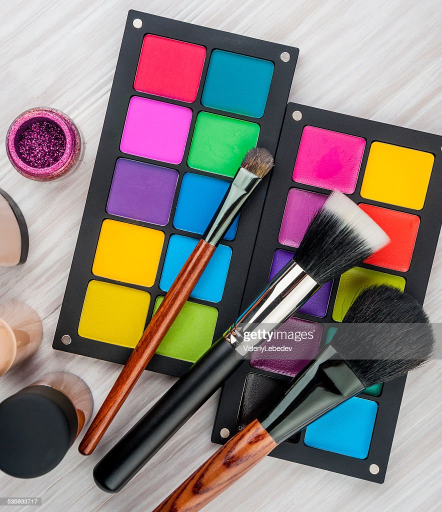 Professional make-up brush : Stock Photo