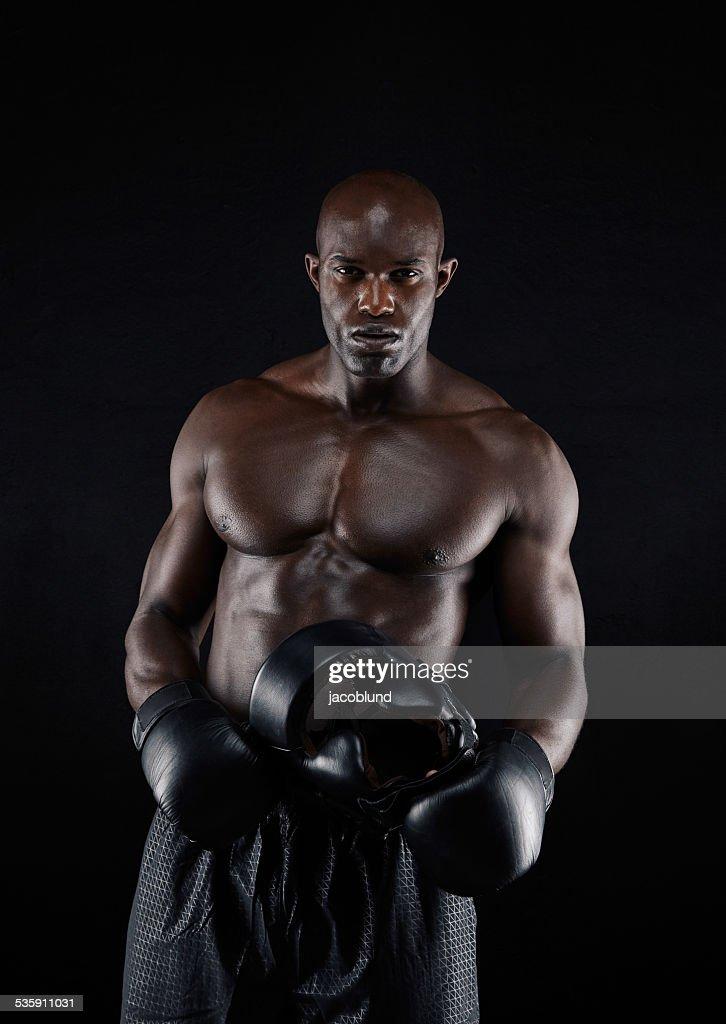 Professional male boxer : Stock Photo
