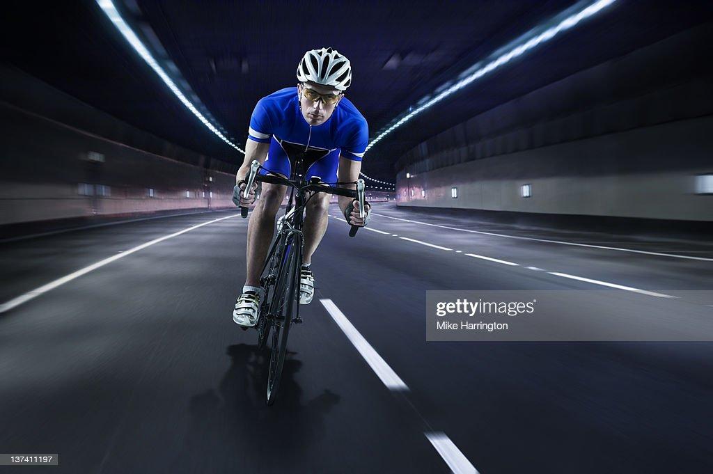Professional Male Cyclist : Stock Photo