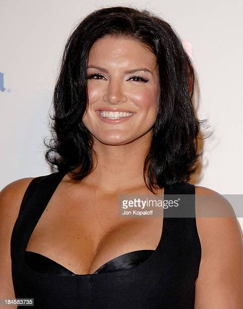 Professional Mixed Martial Arts fighter Gina Carano arrives at Maxim's 2009 Hot 100 Party at Barker Hangar on May 13 2009 in Santa Monica California