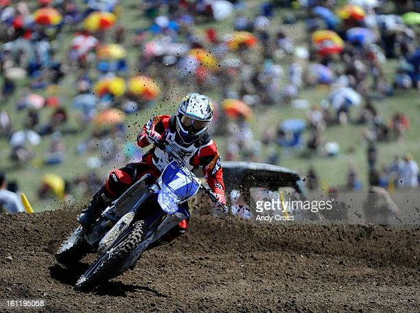 LAKEWOOD CO Professional motocross rider Jessica Patterson rounds a turn on the track during the women's moto during the AMA Lucas Oil Motocross...
