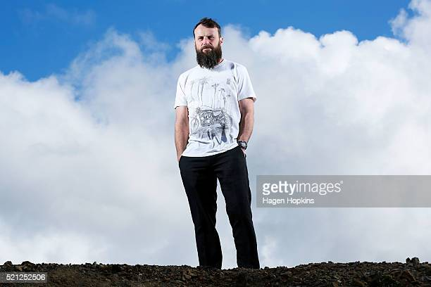 Professional motorcycle road racer Bruce Anstey poses for a portrait on April 15 2016 in Wellington New Zealand