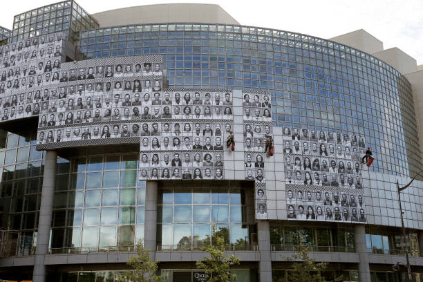 FRA: French Photographer & Artist Jean Rene, Known As JR Pays A Tribute To  Caregivers At Opera Bastille In Paris